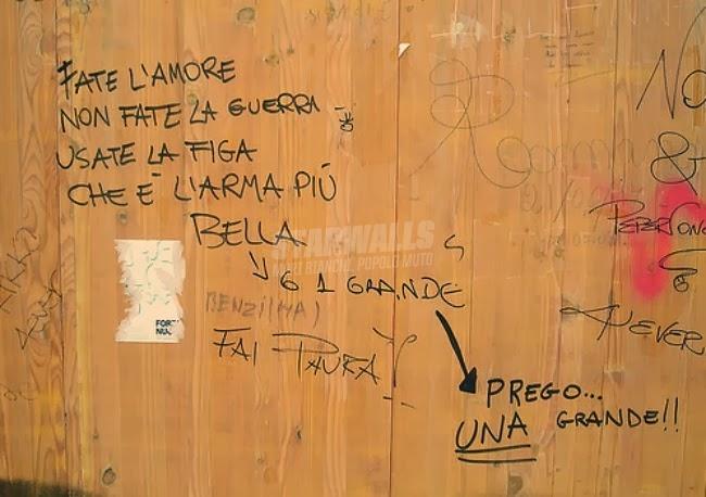 Scritte sui Muri Make love not war
