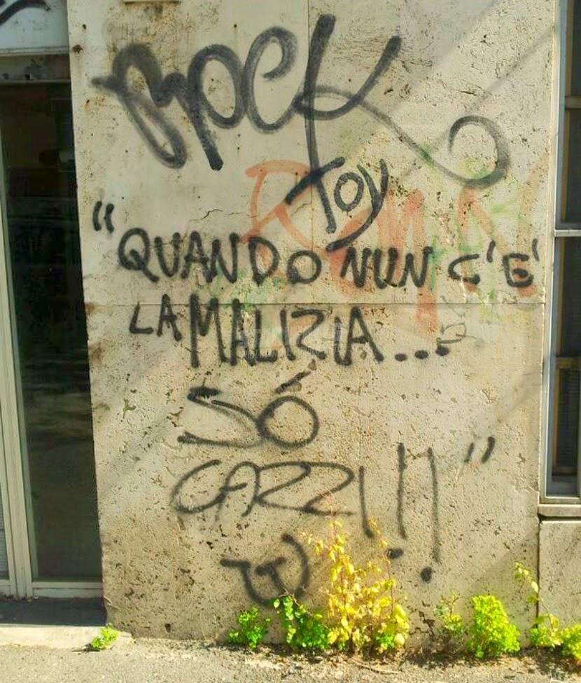 Scritte sui Muri Nun c'è intesa ...
