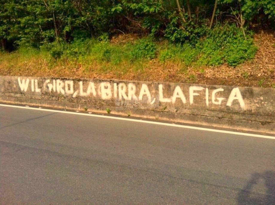 Scritte sui Muri Giro d'italia