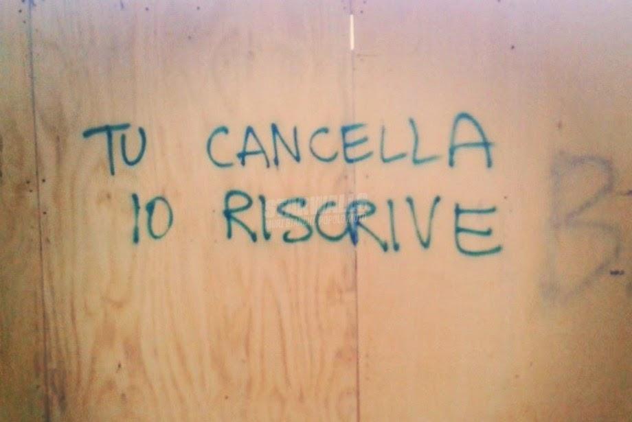 Scritte sui Muri inesorabile