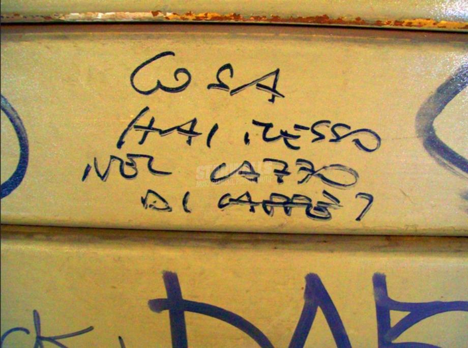 Scritte sui Muri Corretto?