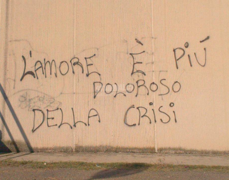 Scritte sui Muri Quando un amore finisce