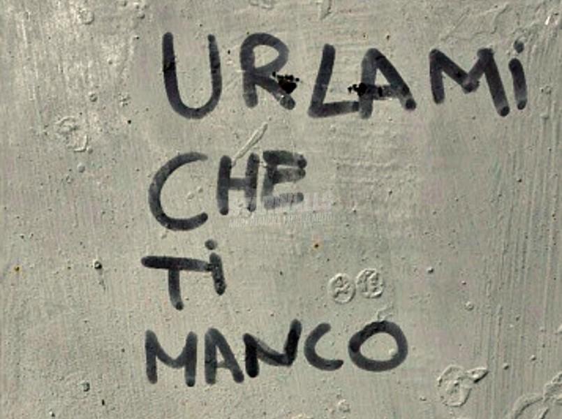 Scritte sui Muri Con foga