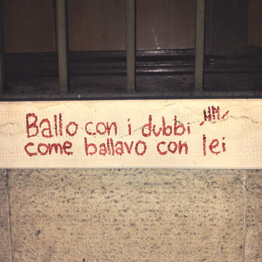 Scritte sui Muri Ballata del dubbio