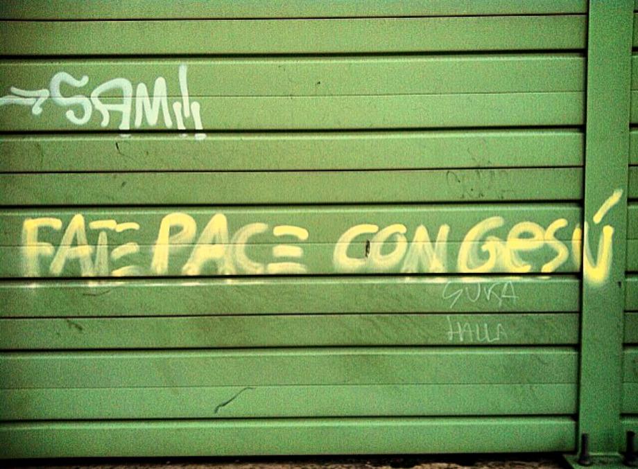 Scritte sui Muri Riappacificazione