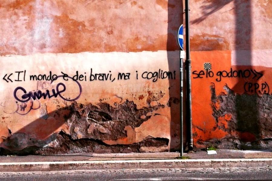 Scritte sui Muri Cit. Pasolini