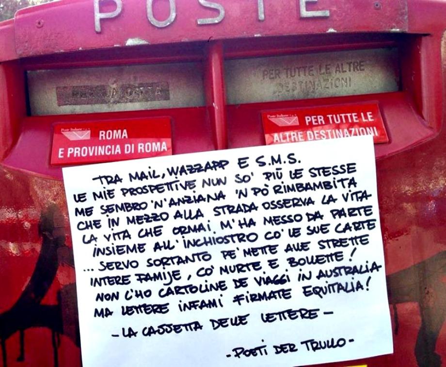 Scritte sui Muri La cassetta delle lettere