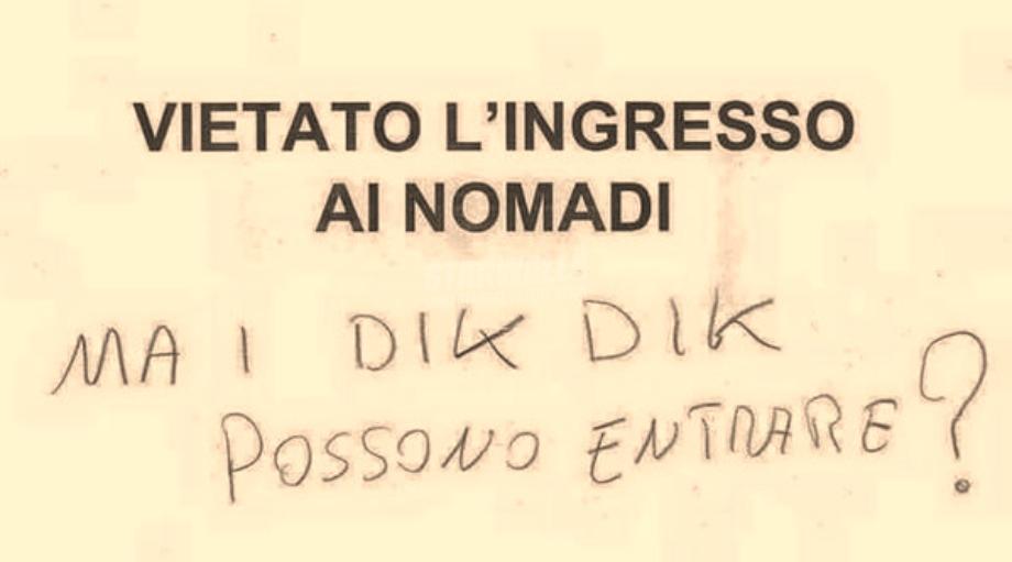 Scritte sui Muri Selezione all'ingresso