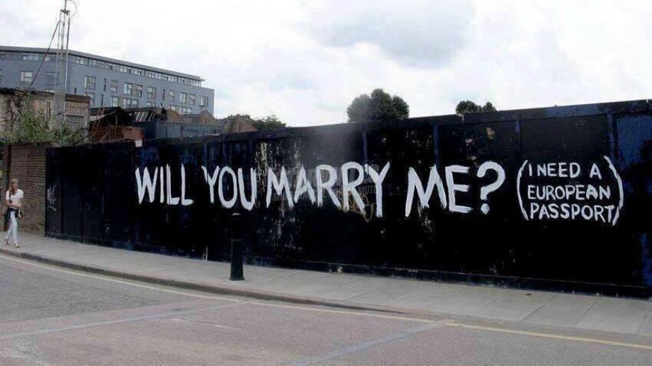 Scritte sui Muri Proposta di matrimonio