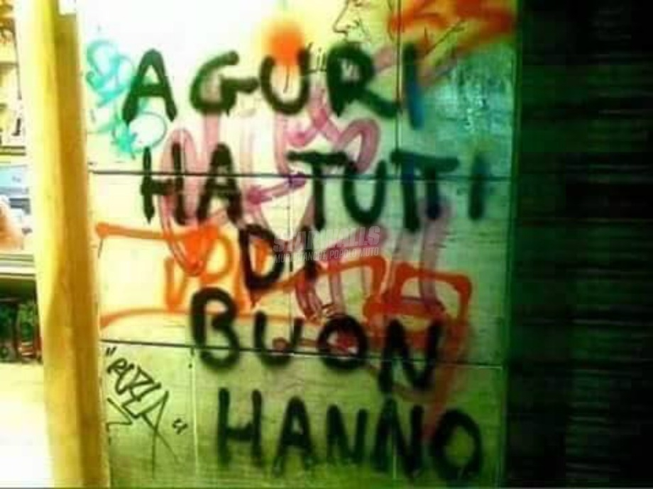 Scritte sui Muri Capo danno grammaticale